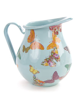 Sky Butterfly Garden Pitcher
