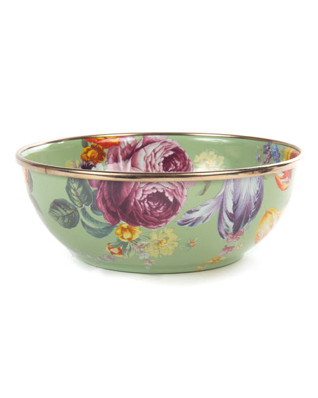 MacKenzie-Childs Flower Market Green Everyday Bowl