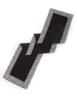 Courtly Check Black Table Runner