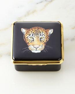 Leopard Enamel Box
