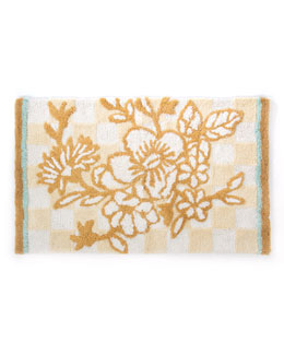 Parchment Check Bath Mat