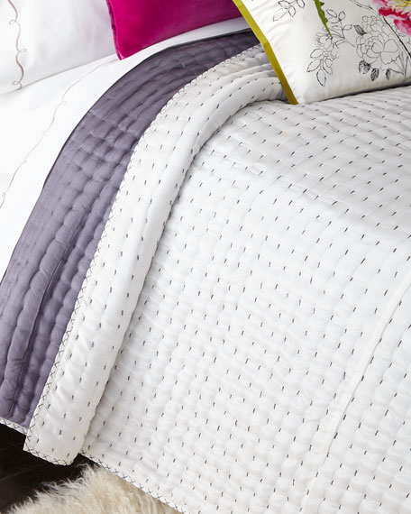 Queen Reversible Silk Quilt