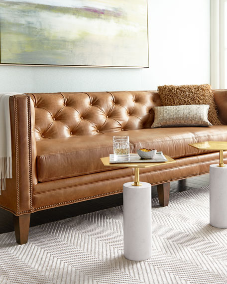 brock leather sofa