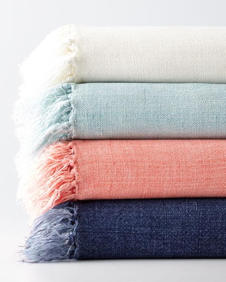 Laundered Linen Throw