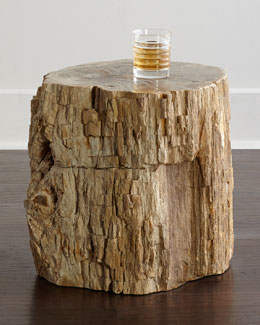 Bangor Petrified Wood Side Table
