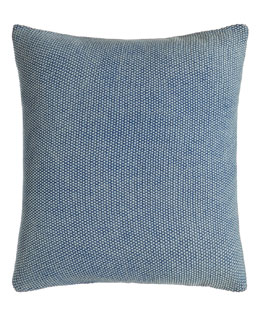 Indigo Montauk Blue Knit Pillow, 18