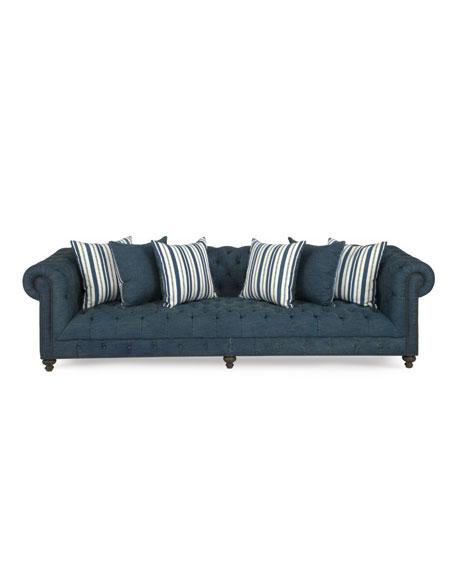 Beau Denim Tufted Sofa