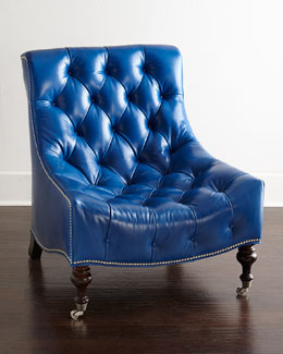 Paulina Tufted-Leather Chair