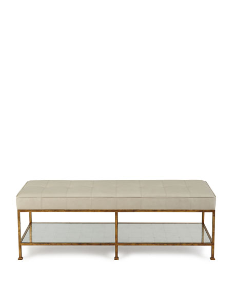 Maxine Biscuit-Tufted Bench