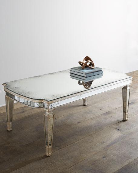 John-Richard Collection Dara Mirrored Coffee Table