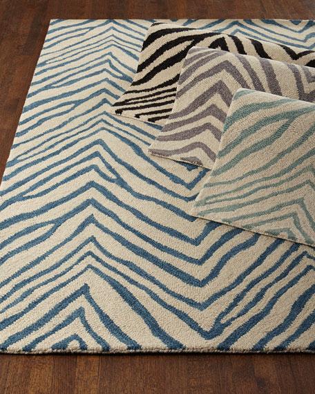 "Mikki Zebra-Print Rug, 3'6"" x 5'"
