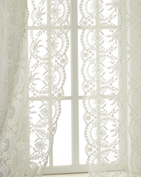 "Each 52""W x 96""L Chantilly Lace Curtain"