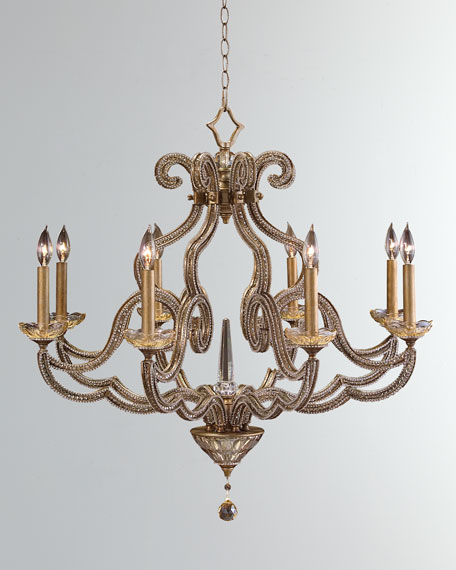 John richard collection beaded elegance 8 light scroll chandelier mozeypictures Gallery