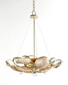 Janice Minor Glass Bubble Three-Light Chandelier