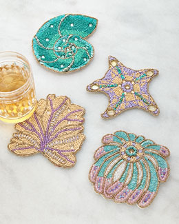 Sea Odyssey Coasters, 4-Piece Set