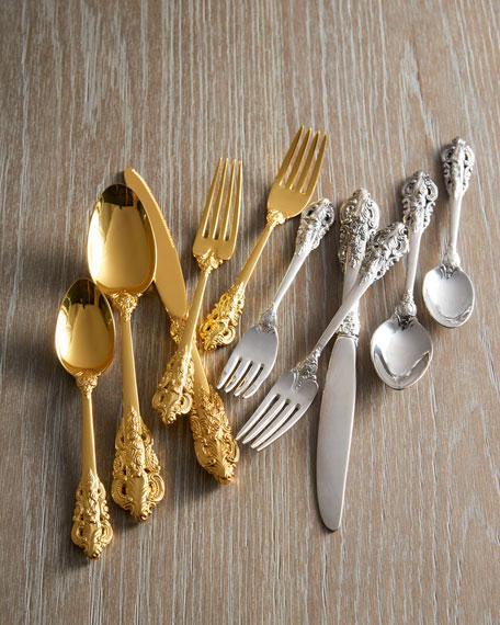 65-Piece Gold 20th-Century Baroque Flatware Service