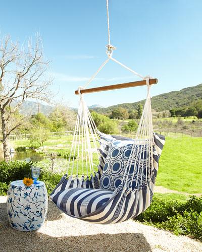 Blue Swinging Chair