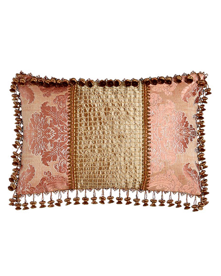 Rue de L'amour Pillow with Beaded Silk Center,