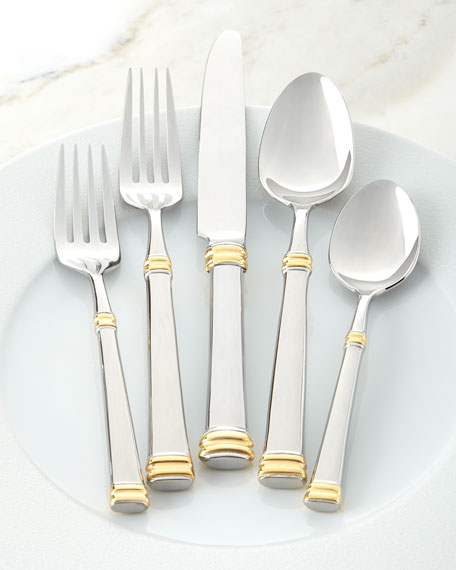 45-Piece Gold Bramasole Flatware Service