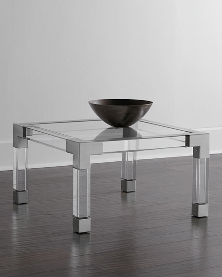 Jacques acrylic & Nickel Coffee Table