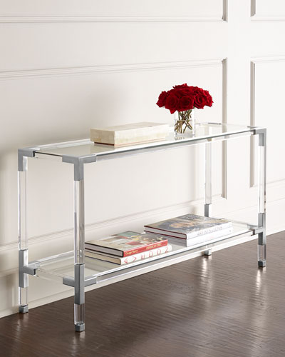 Jacques Acrylic & Nickel Console