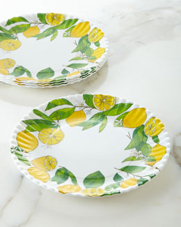 Four Lemon Melamine Plates