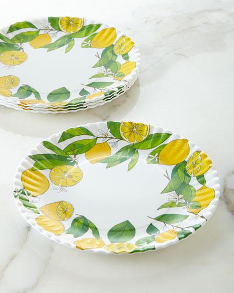 Four Lemon Melamine Plates