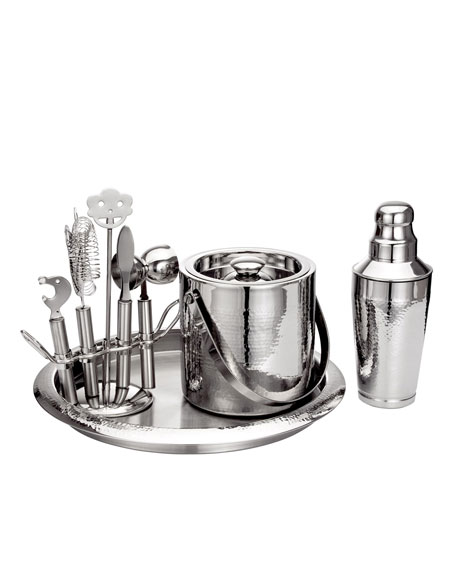 Hammered Bar Set with Tools