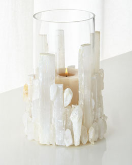 Natural Selenite Candleholder/Vase