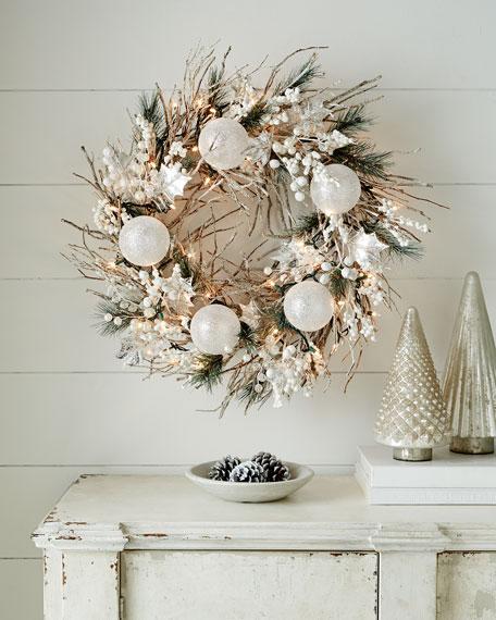 """White Christmas 28"""" Wreath"""