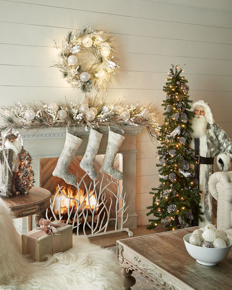 Horchow Christmas Items 2020 White Christmas 6' Garland