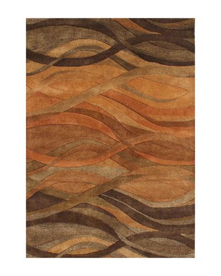 Autumn Stripe Rug, 8' x 10'