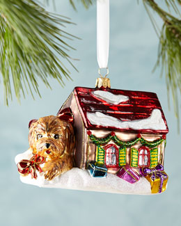Puppy in House Christmas Ornament