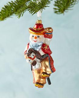 Cowboy Snowman Christmas Ornament