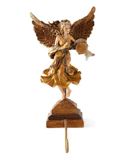 Belle Angel with Tambourine Stocking Hook