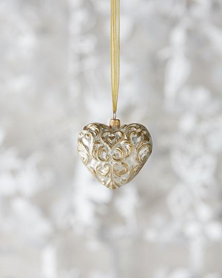 Baroque Heart Christmas Ornament