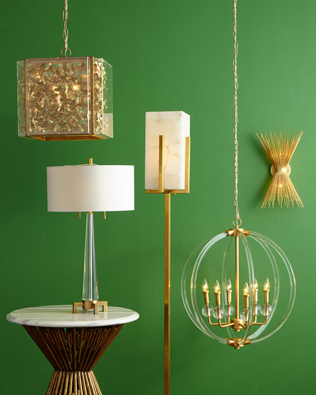 Lucite 6-Light Pendant
