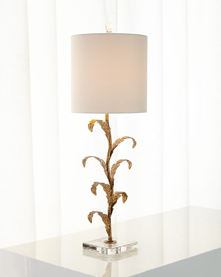 Golden Leaves Buffet Lamp
