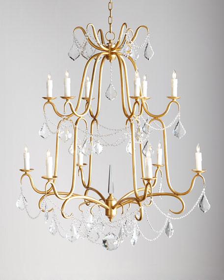Marceline 12 light crystal chandelier