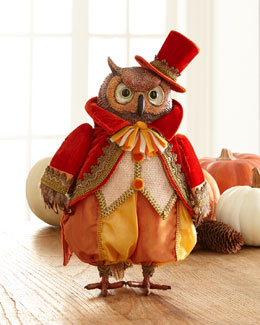 Autumn Wheat Owl Tabletop Figure
