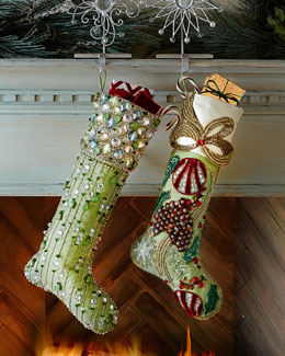 FROSTED PINE STOCKING