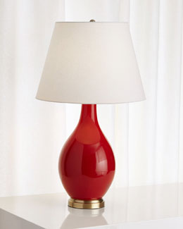 Corinne Red Ceramic Lamp