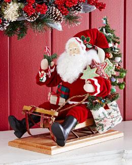 Holiday Sledding Santa