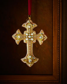 Jay Strongwater Medieval Cross Christmas Ornament