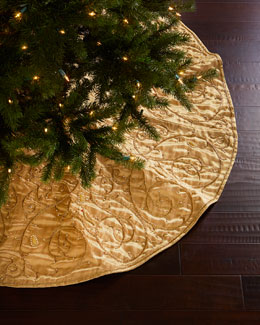 Gold Velvet Christmas Tree Skirt
