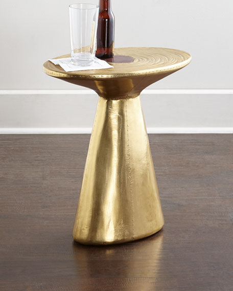Delightful Dorian Brass Accent Table