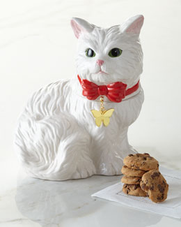 Fluffy Cat Cookie Jar
