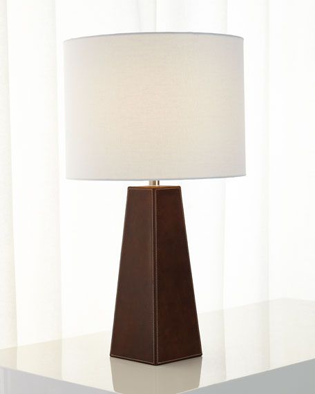 Stitched Leather Lamp
