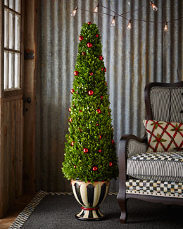 Courtly Christmas Boxwood Topiary