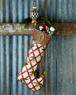 Tartan Yuletide Joy Christmas Stocking